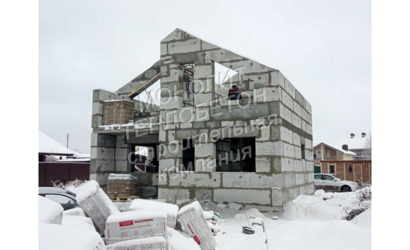 Дом из мегаблоков теплобетона д.Шарапово