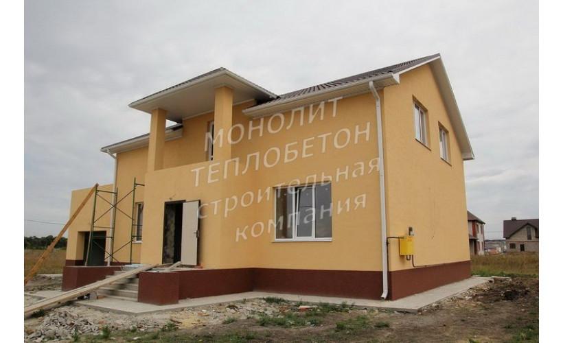 Монолитный двухэтажный дом д.Новосадово